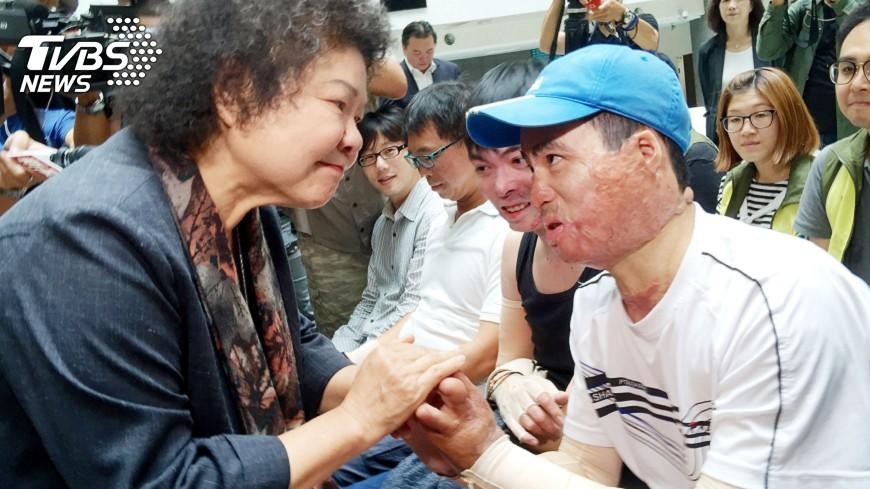 圖/中央社 高雄氣爆3週年 捐款持續照顧受傷民眾