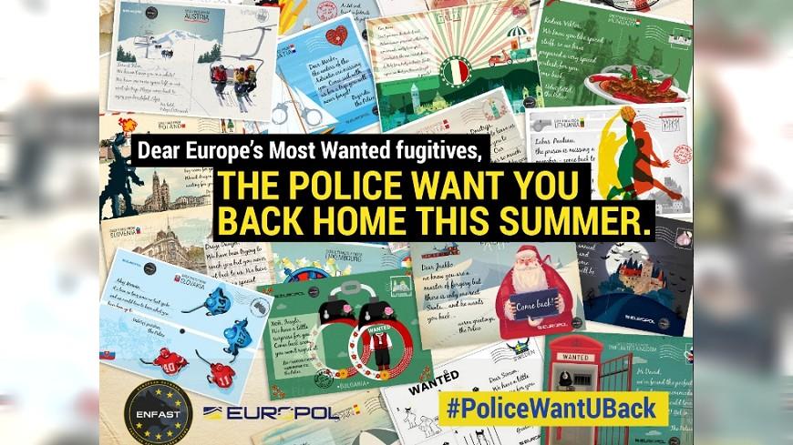 歐警出奇招 寄明信片給通緝犯說好想你