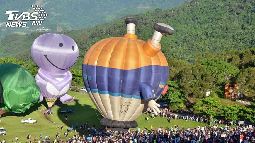 圖/中央社 台東熱氣球閉幕 38天吸引48萬人次