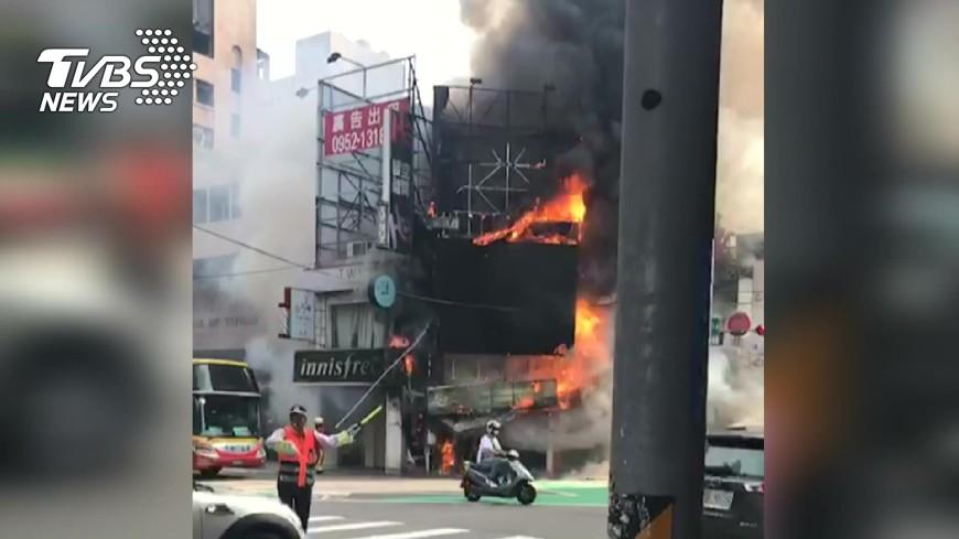 中正路去年8月也曾傳出火警。圖/TVBS資料畫面