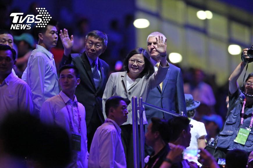 圖/中央社 反年改世大運抗議 總統:太小看台灣了