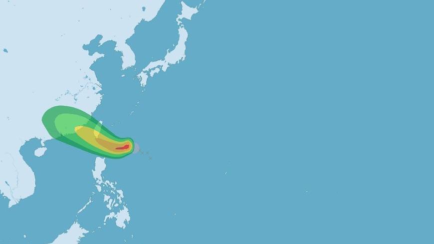 圖/中央氣象局 外圍環流強大 「天鴿」23:30發布海上颱風警報