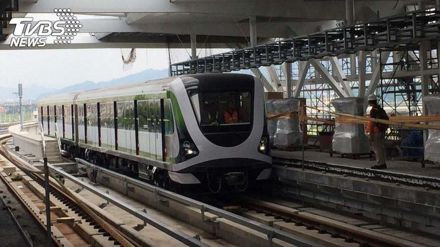 圖/中央社 台中捷運電聯車 首次主線測試成功