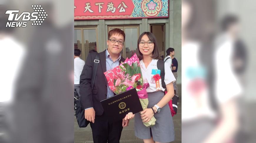 圖/中央社 陪讀班發掘美術天分 她誓言助弱勢孩童
