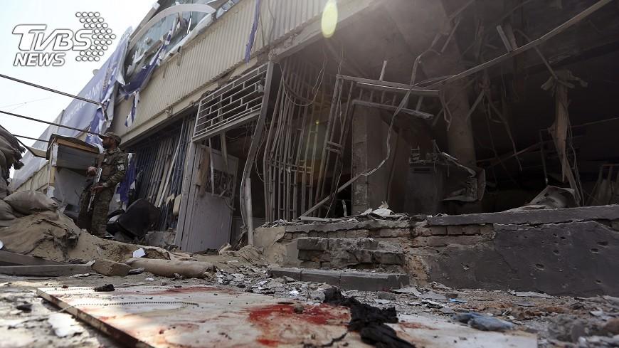 圖/達志影像美聯社 阿富汗喀布爾美使館附近驚爆 4死多傷