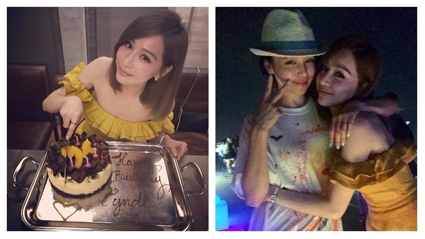 圖/王心凌、徐若瑄臉書 王心凌歡度35歲生日 徐若瑄祝福「壞的去、好的來」