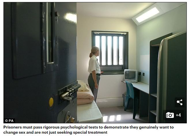 英國一名連續性侵犯入獄服性後要求變性,轉到女監服刑後竟然還性侵女獄友。(圖/翻攝自每日郵報) 連續性侵犯獄中變性 轉女監竟硬上獄友