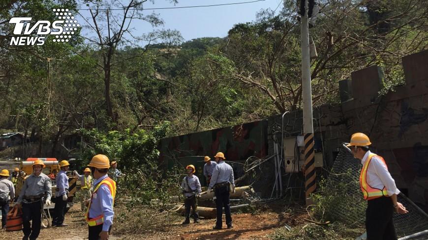 圖/中央社 颱風泰利路徑類似莫蘭蒂 金門加強整備