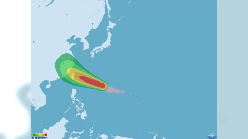 圖/中央氣象局 泰利快變中颱! 估暴風圈13日下午觸台