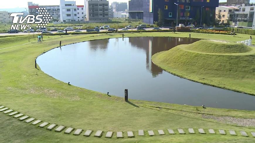 圖/TVBS 都市水漾台中嘉明湖! 建案「抹綠」更吸睛