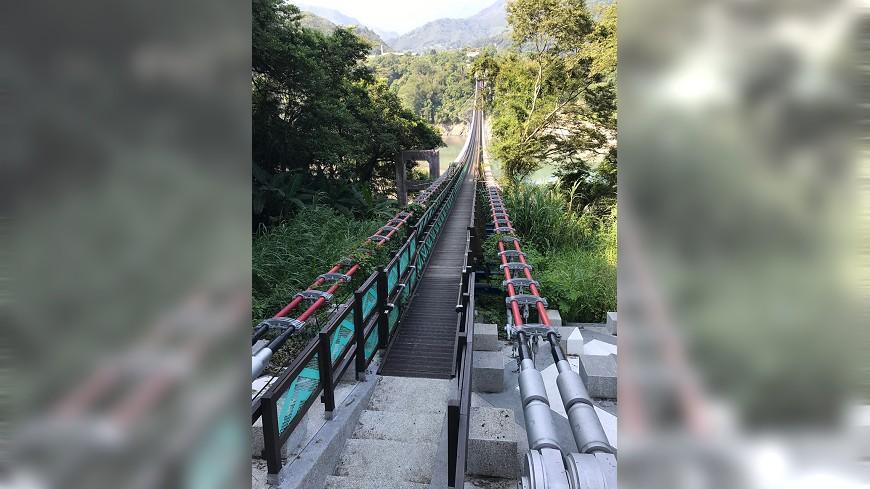 圖/中央社 復興溪口吊橋完工 107年1月正式啟用