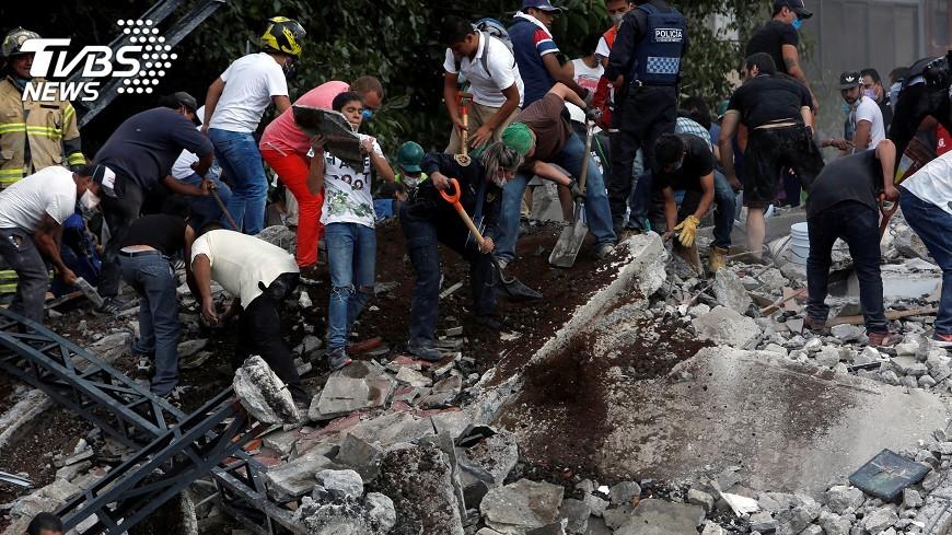 圖/達志影像路透社 墨西哥強震 全球過去30年恐怖地震一覽