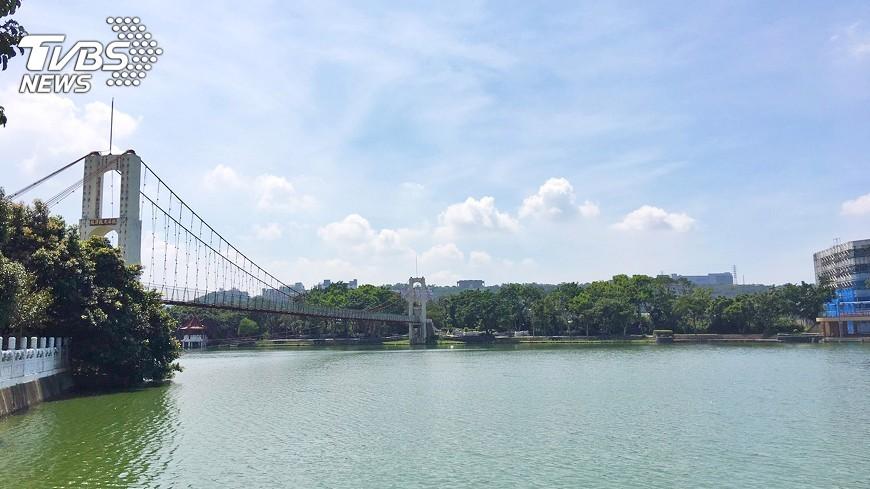 圖/中央社 龍潭地標吊橋拆除 斜張新橋再造桃園亮點