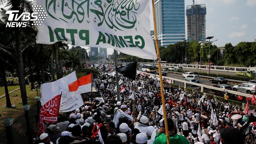 圖/達志影像路透社 印尼反共產黨示威 各方政治勢力對抗