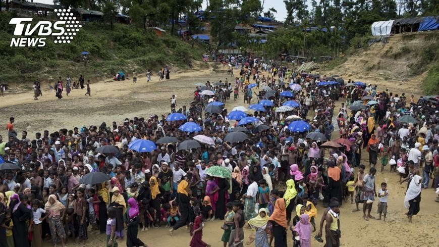 圖/達志影像美聯社 洛興雅難民營穢物四溢 恐爆發健康危機