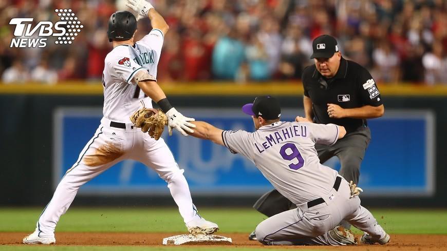 圖/達志影像路透社 MLB外卡響尾蛇贏洛磯 季後賽對道奇