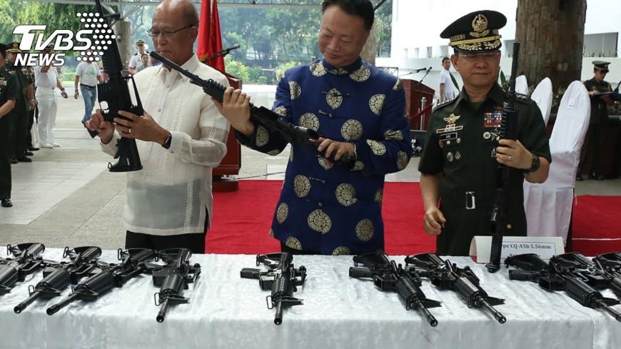 圖/中央社 助菲律賓因應威脅 北京再捐武器