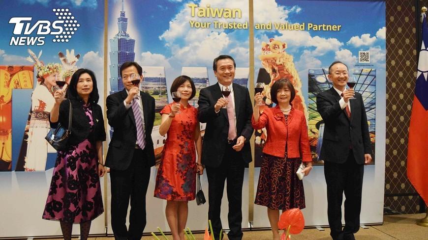 圖/中央社 駐日內瓦國慶酒會 強調台灣國際貢獻