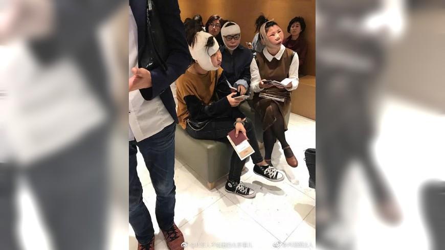 圖/取自建華華微博 網傳3女赴韓整容無法離境 韓法務部澄清「假的」