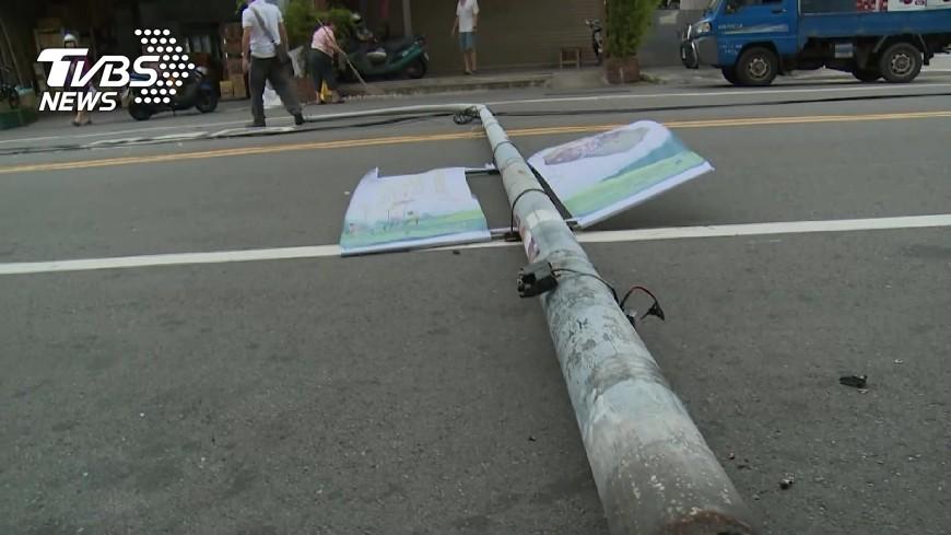圖/TVBS 上百路燈遭破壞   強風吹出線索助警破案