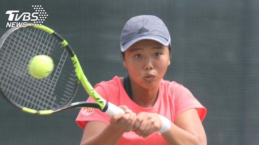 圖/中央社 WTA未來之星賽事 李亞芯闖進4強