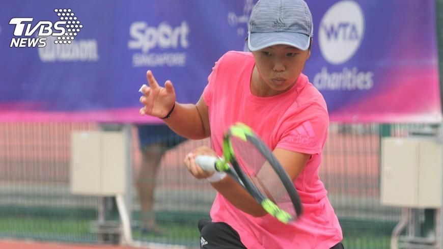 圖/中央社 WTA未來之星賽 李亞芯將爭冠
