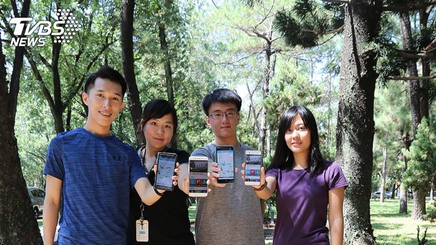 圖/中央社 輕鬆「森」呼吸 興大健康步道啟用