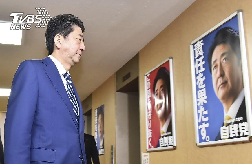 圖/達志影像美聯社 日本大選出口民調 安倍席次過半篤定連任