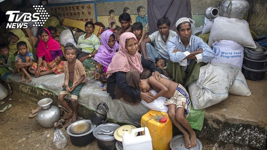 圖/達志影像美聯社 洛興雅難民營新醫院 每天治療200多人