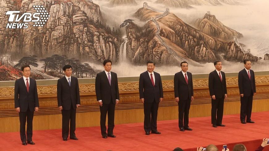 圖/中央社 中共中央軍委主席維持一正兩副