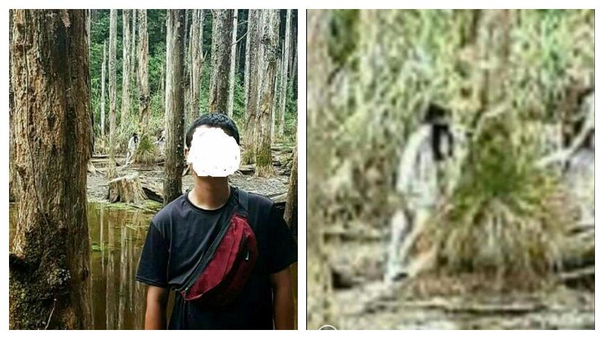圖/爆料公社 忘憂森林拍到「鬼影」? 男驚嚇爆瘦18kg結果超傻眼
