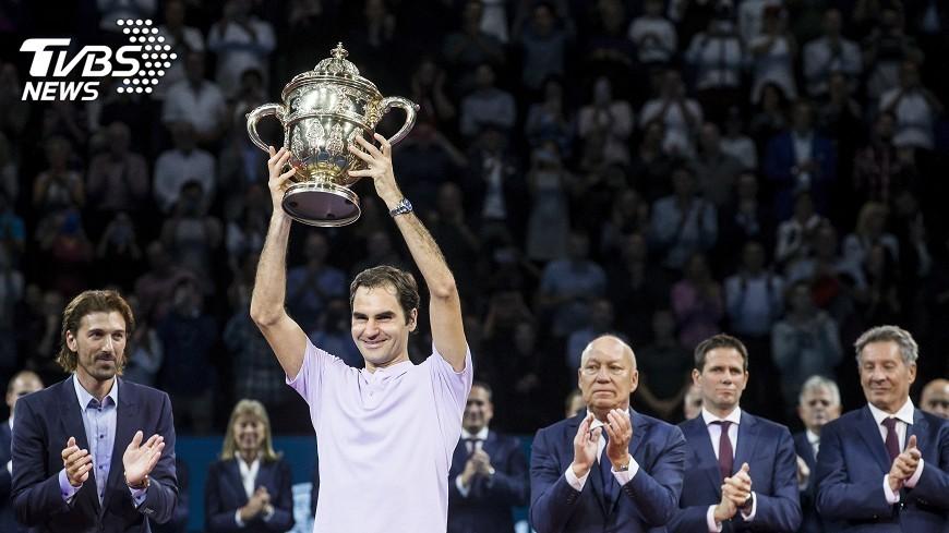 圖/達志影像美聯社 瑞士室內網賽費德瑞逆轉封王 生涯95冠