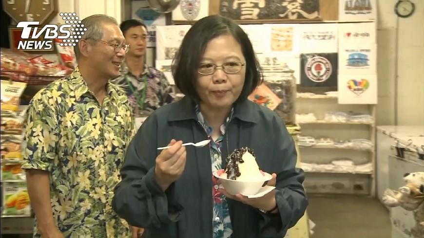 圖/TVBS 夏威夷吃到台古早剉冰! 總統大讚好吃