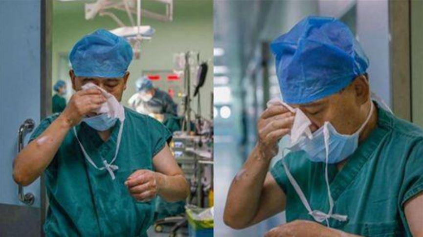 翻攝自/微博 救人錯過父最後一面 他術後爆哭:因為我是醫師