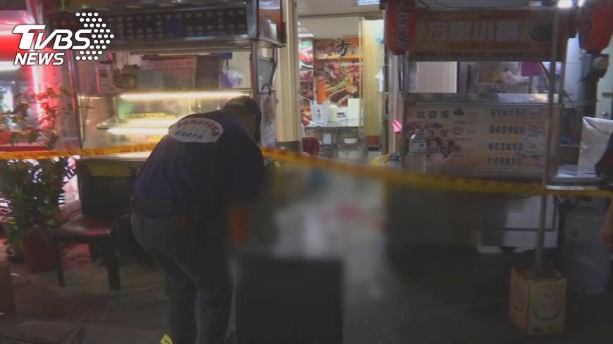 圖/TVBS 錦州街滷味攤遭槍擊 歹徒開3槍、3人中彈