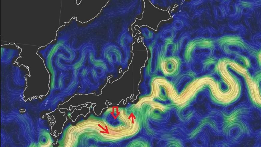 黑潮大蛇行時隔12年再現,日本沿岸漁獲量已受到影響。圖/鄭明典臉書 12年前讓東京下暴雪!「黑潮大蛇行」再現