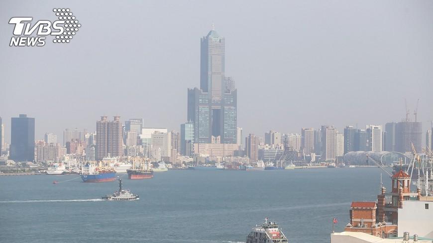 圖/中央社 高雄空氣品質不佳 紅色警示有3處