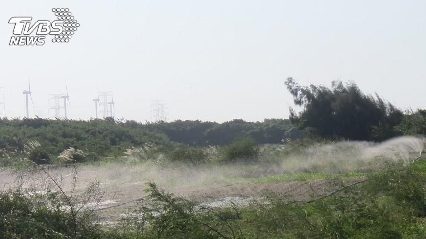 圖/中央社 午後污染物飆升 雲林、馬祖空氣品質紅害