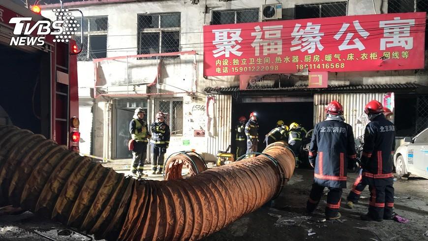 圖/達志影像路透社 北京大火 突顯城鄉結合部整治問題
