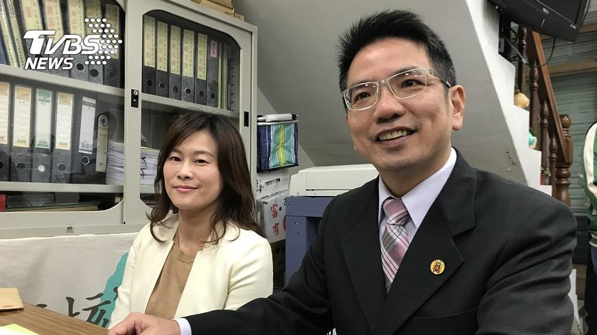 圖/中央社 江聰淵尋求市長連任 支持陳金德選縣長