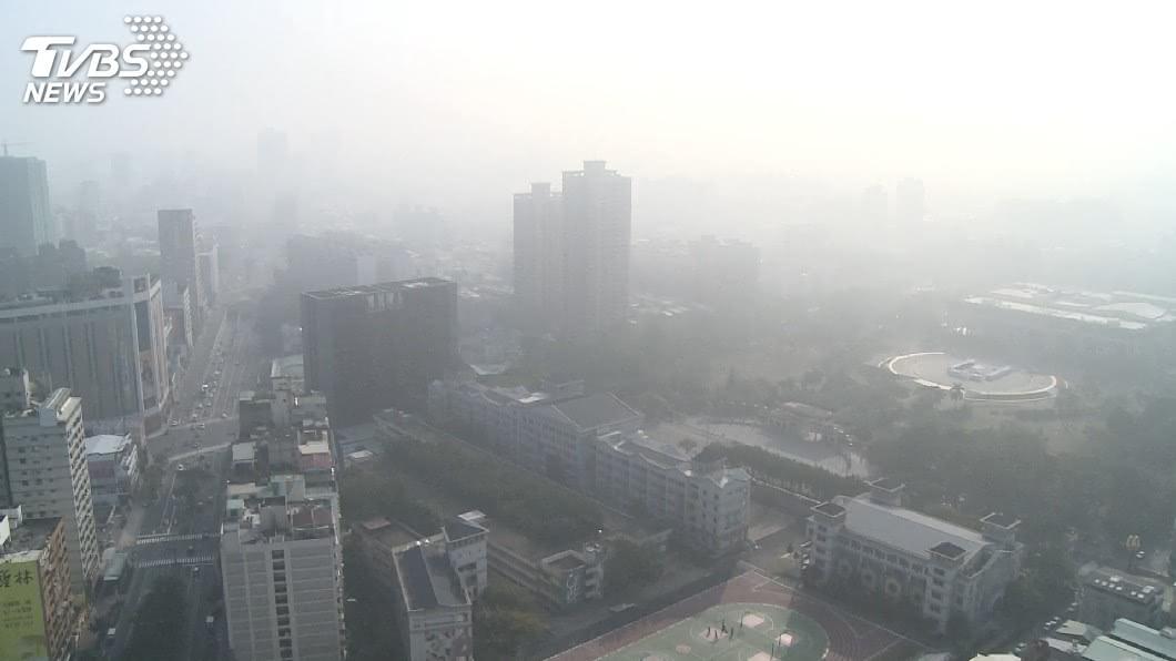 示意圖/TVBS 北部雲嘉南高屏空品不佳 17測站亮橘燈