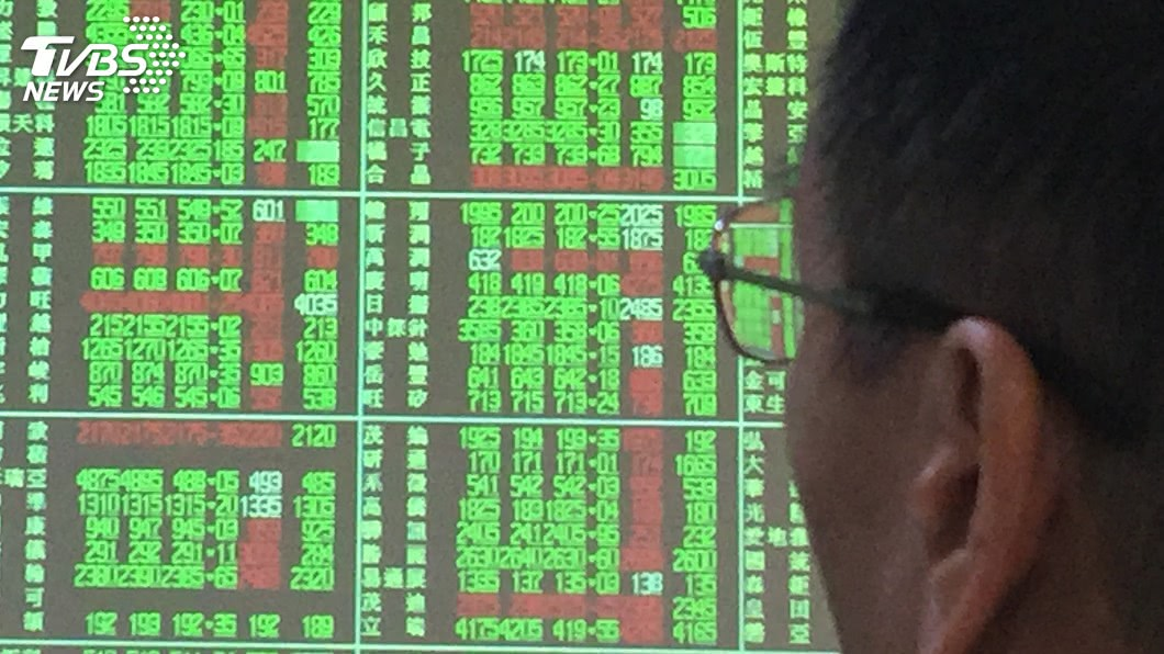 圖/中央社 台積電股價震盪 台股創波段高後拉回