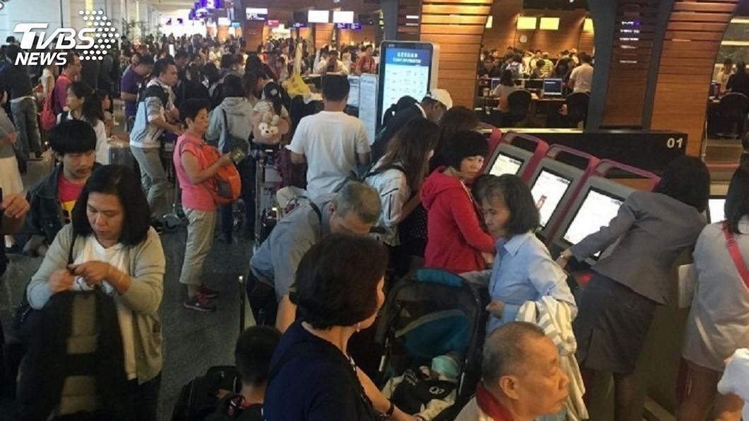 圖/TVBS 春節桃機加班1196架次 運量估年增6%