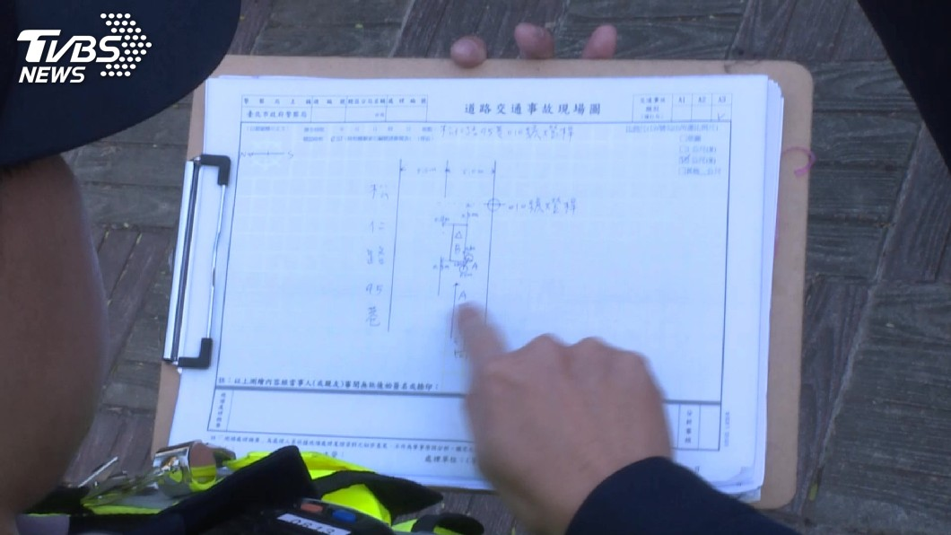 示意圖/TVBS 單純財損車禍拍照取代畫線定位 北市警授5撇步