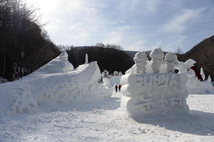 圖片來源/태백산눈축제