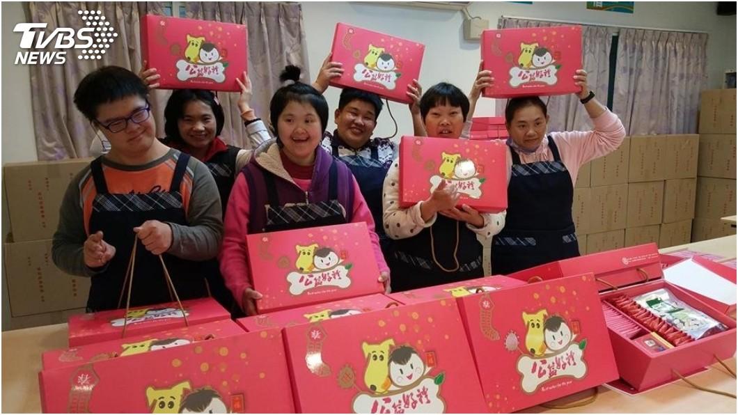 圖/真善美社會福利基金會提供 幫幫這笑容!年節禮盒滯銷 憨兒們好失望