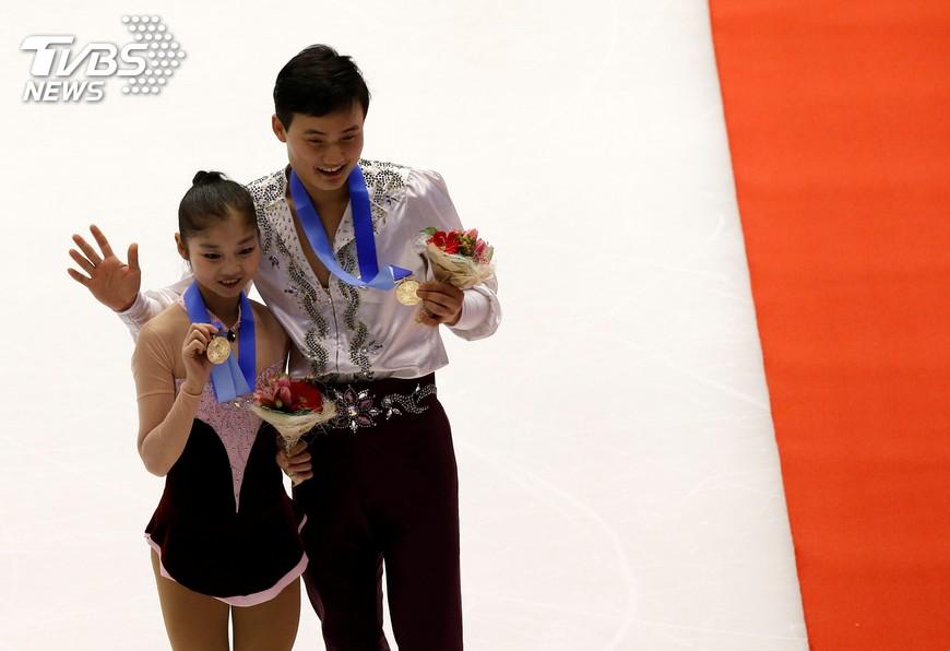 圖/達志影像路透社 為冬奧暖身 北韓花式滑冰金童玉女抵台