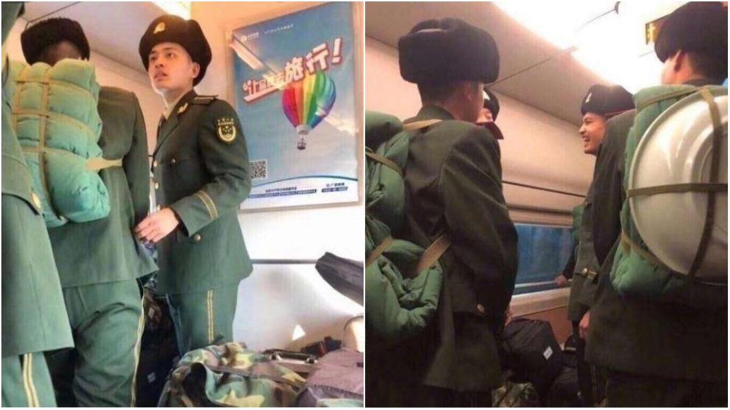 圖/取自《搜狐》 軍校生搭高鐵被站票客逼讓位 網嘆:軍人沒尊嚴