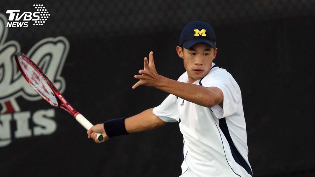 圖/中央社 溫哥華男網挑戰賽 莊吉生不敵立陶宛選手獲亞軍