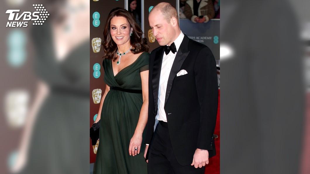 圖/達志影像TPG 只有緞帶是黑色 凱特王妃走紅毯挨批不合群
